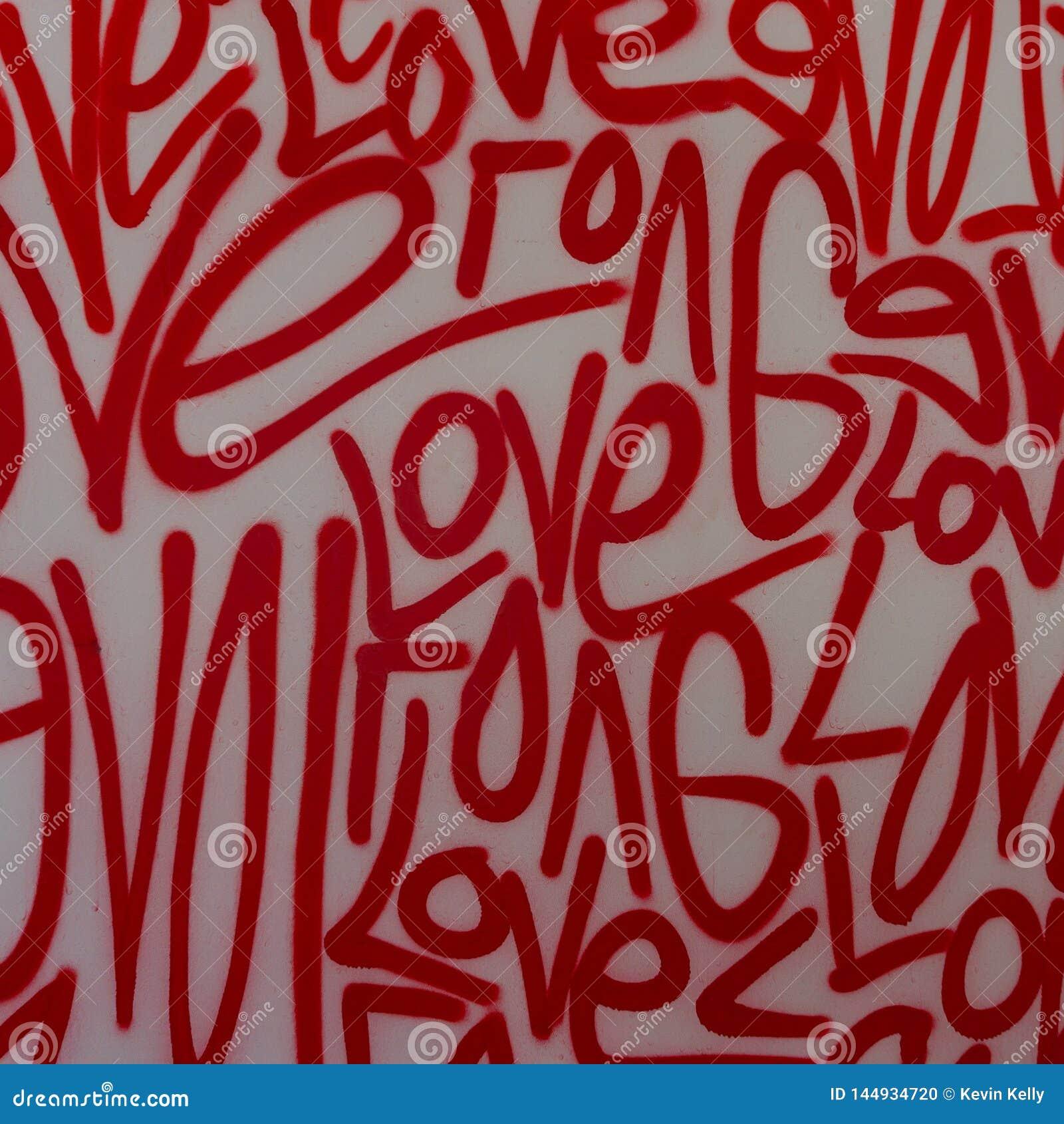 Van de de kunstgraffiti van de liefdestraat de nevelverf