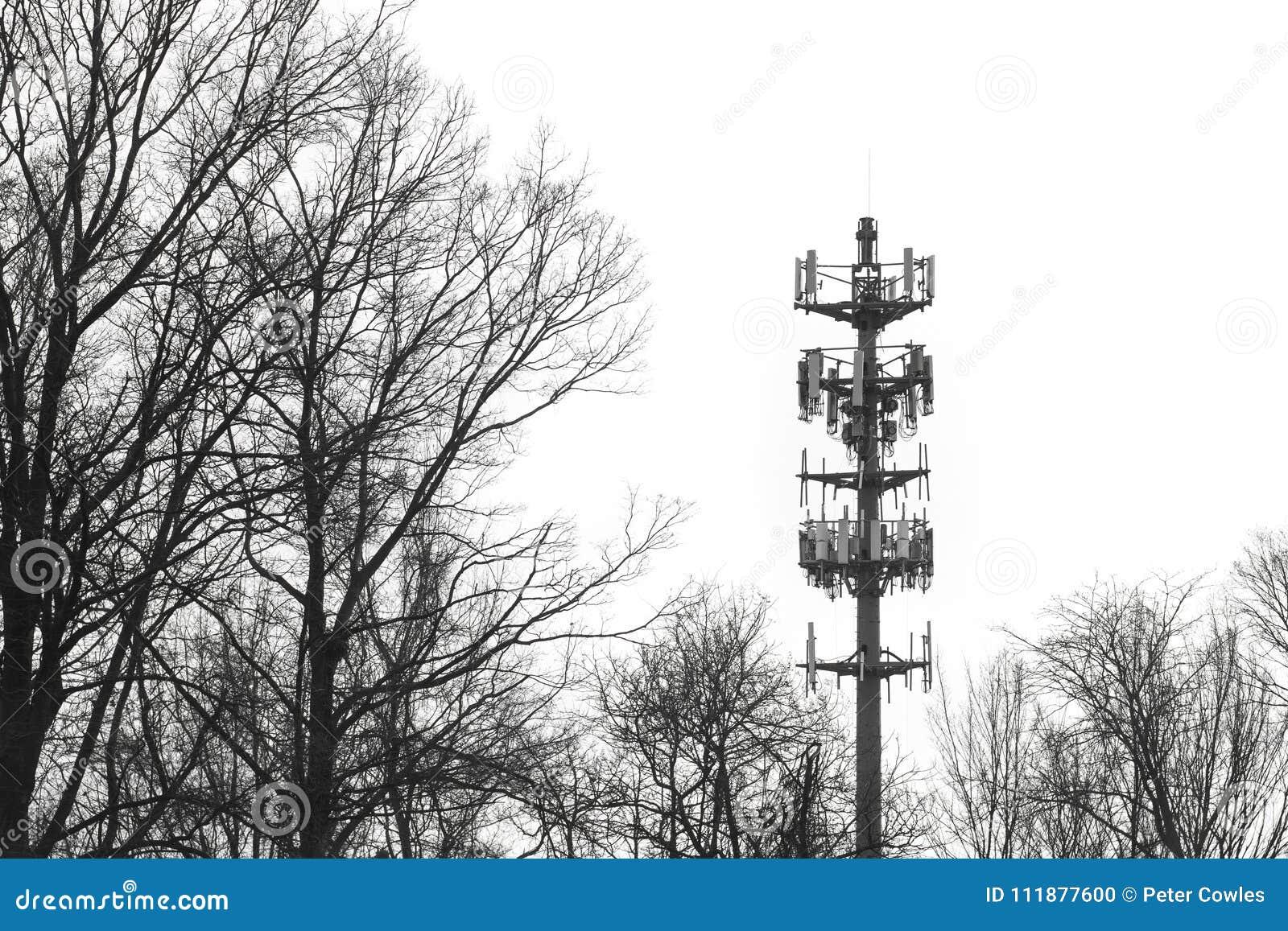 Van de de radioverbindingentoren van de waarschuwingssirene hoge het contrasttelecommunicatie-uitrusting
