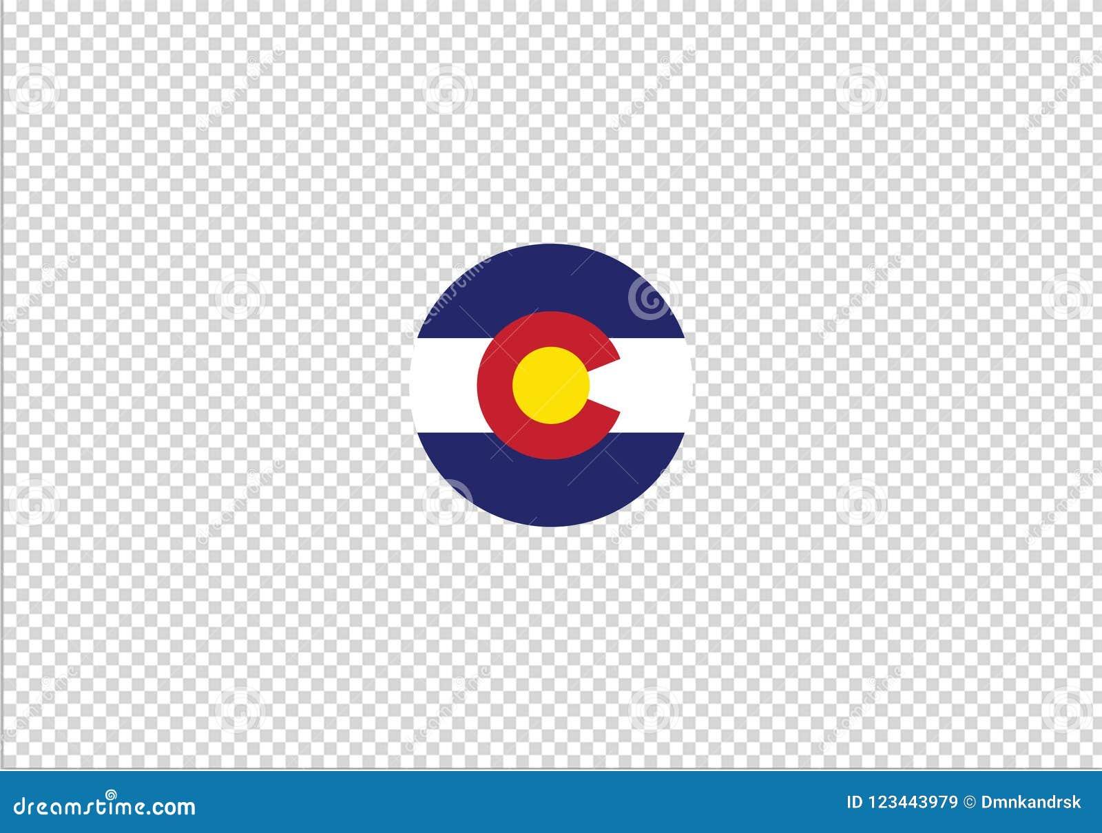 Van de de vlag nationaal staat van Colorado het symboolteken