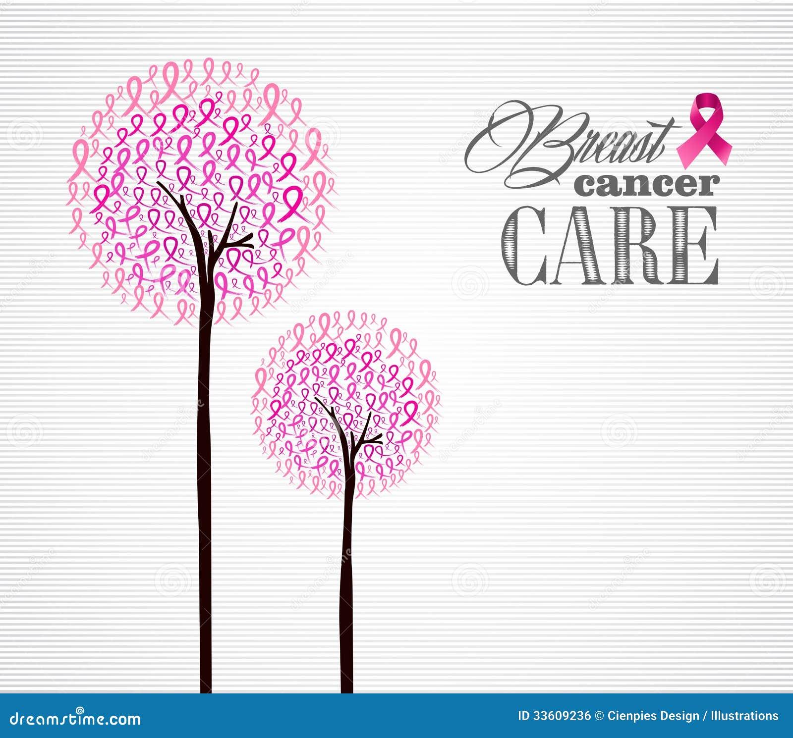 Van de voorlichtings roze linten van borstkanker conceptueel de bomeneps10 dossier