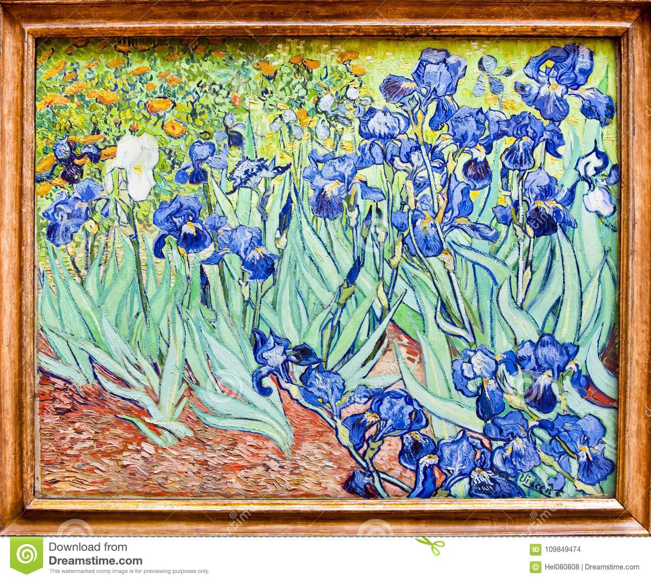 Van Gogh, Iris Painting, Getty-Museum, Origineel Los Angeles -