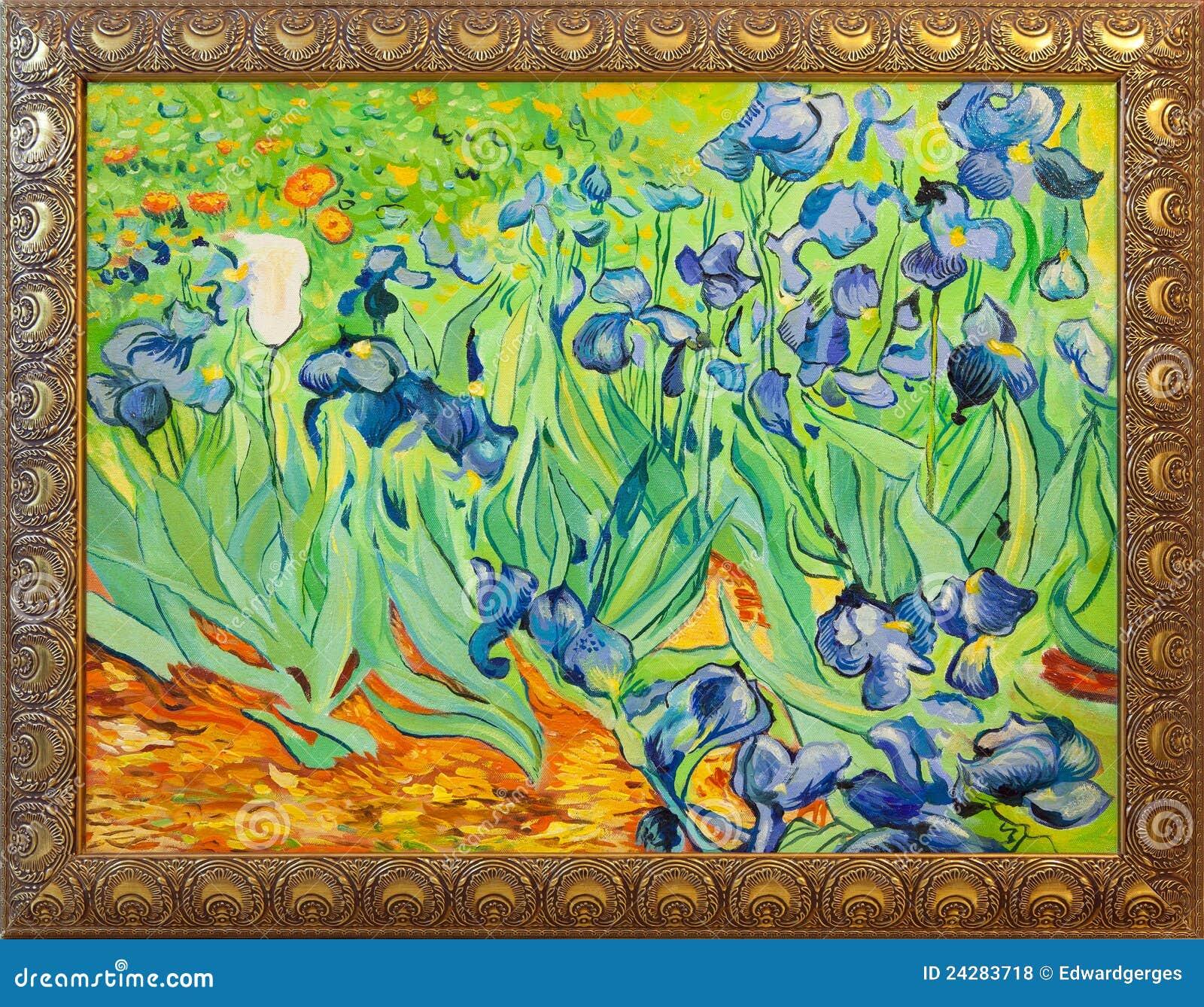 Van Gogh Irises Malerei