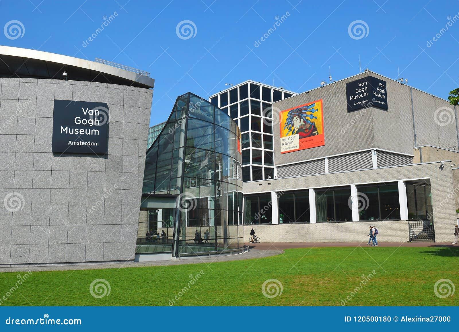Van Gogh museumbyggnadskomplex i Amsterdam, Nederländerna