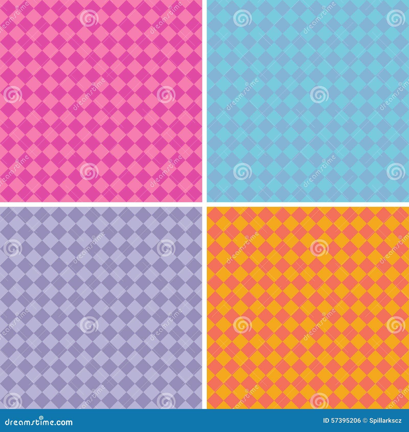 Van het achtergrond diamantpatroon inzameling in veelvoudige gemengde kleuren