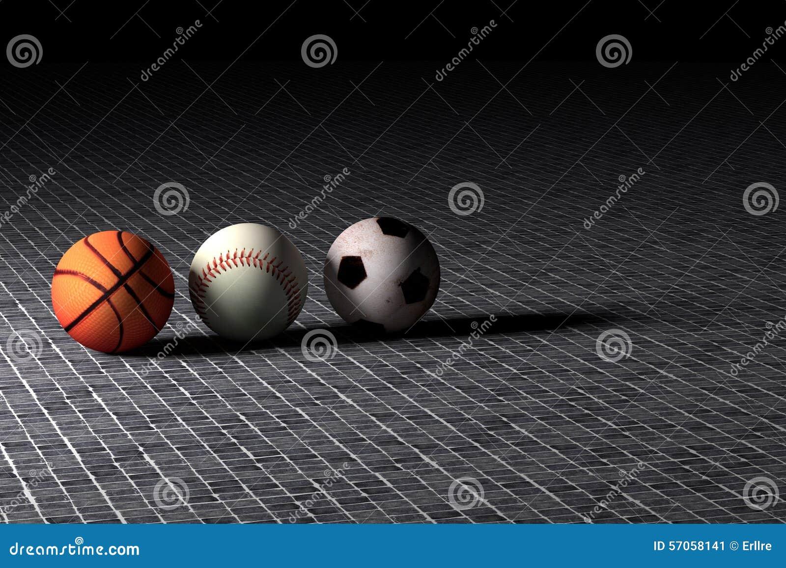 Van het basketbalhonkbal en voetbal ballen