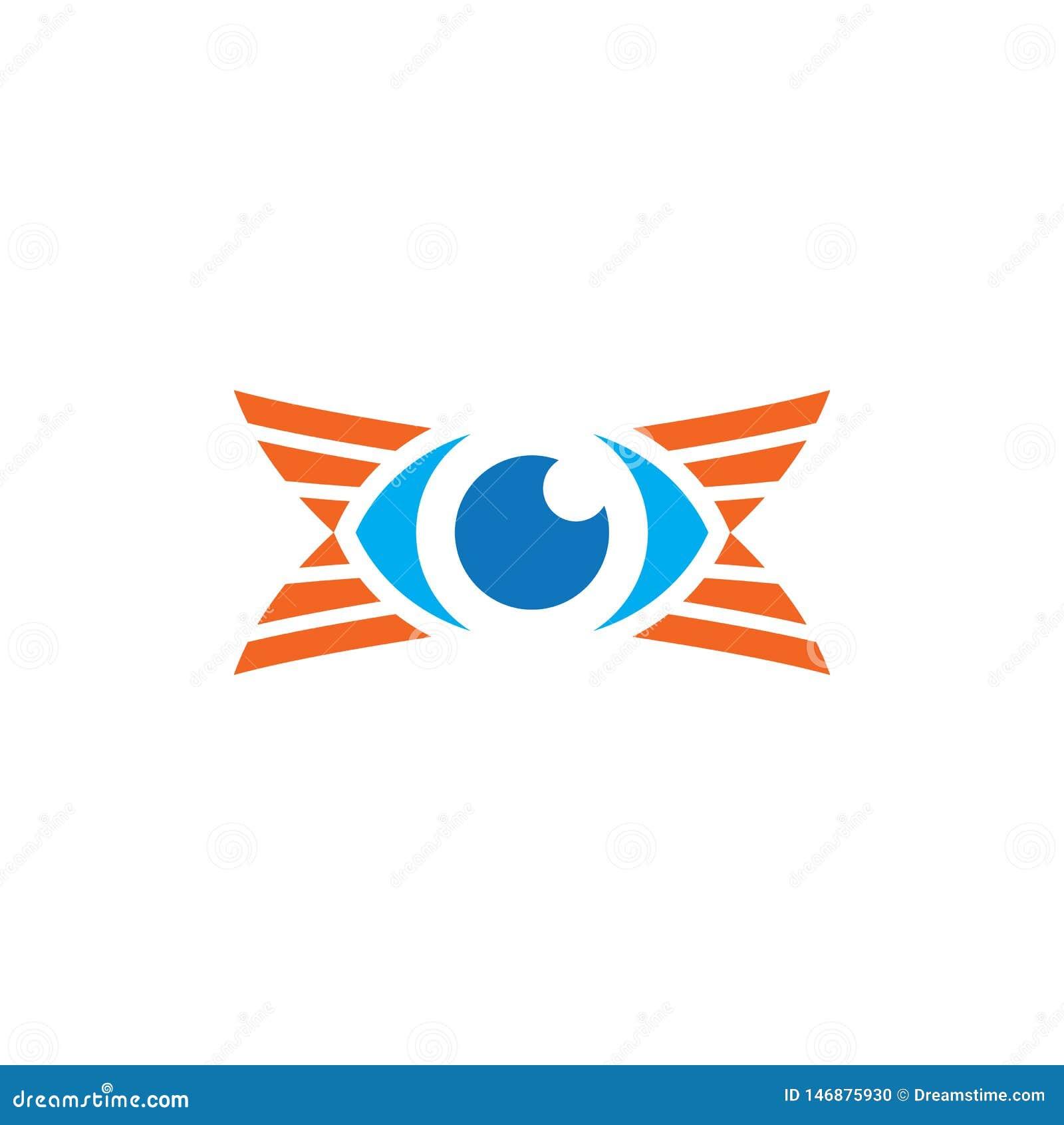 Van het bedrijfs oog optisch embleem Ontwerp