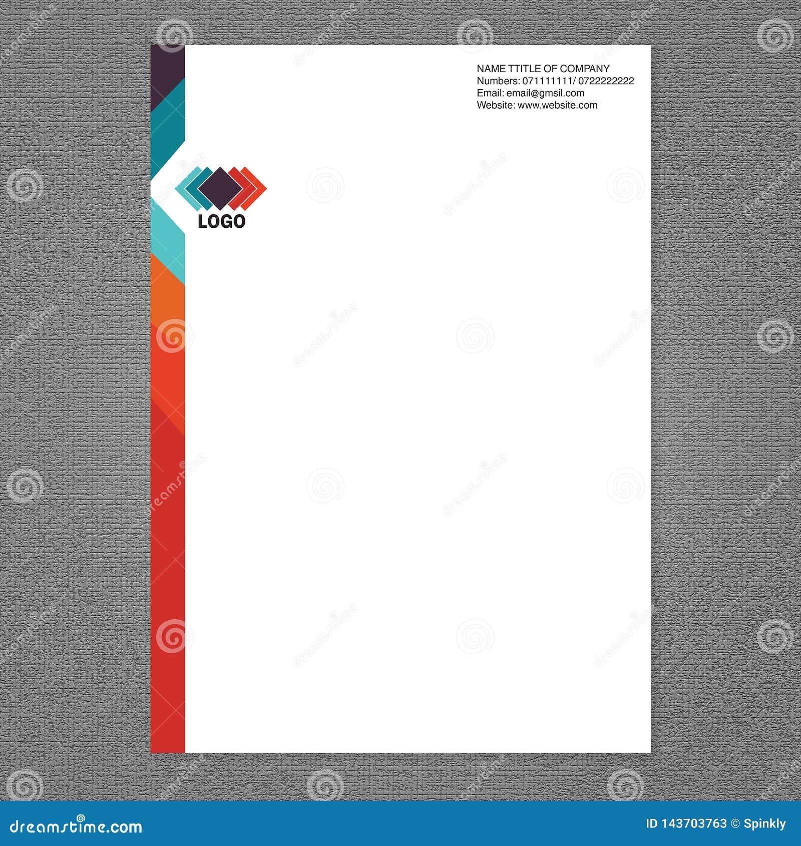 Van het brievenhoofd en embleem ontwerp
