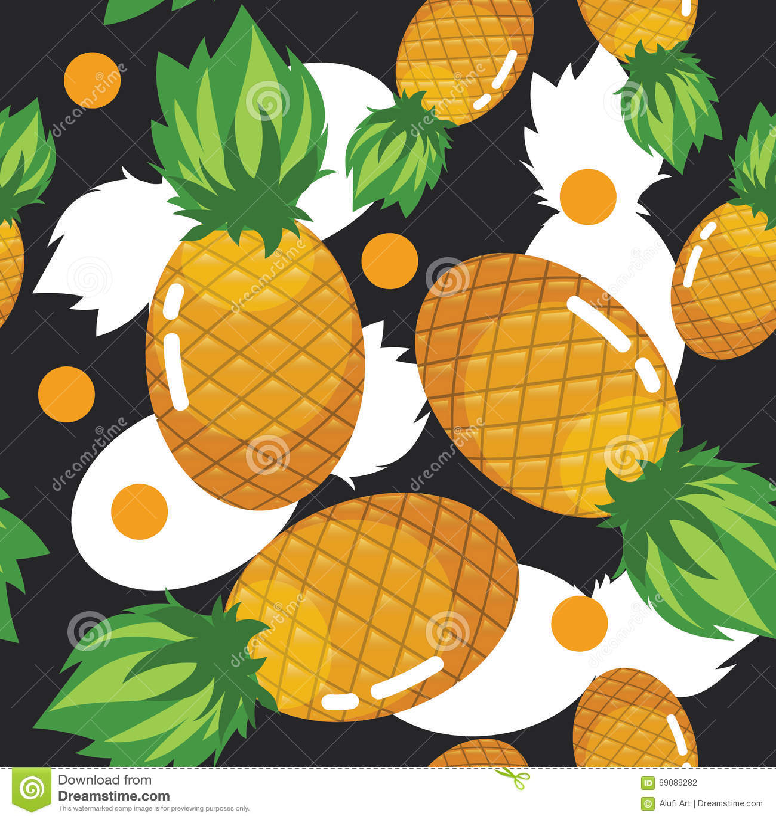 Van het de Ananasfruit van de zomercolorfull het Verse Naadloze Patroon