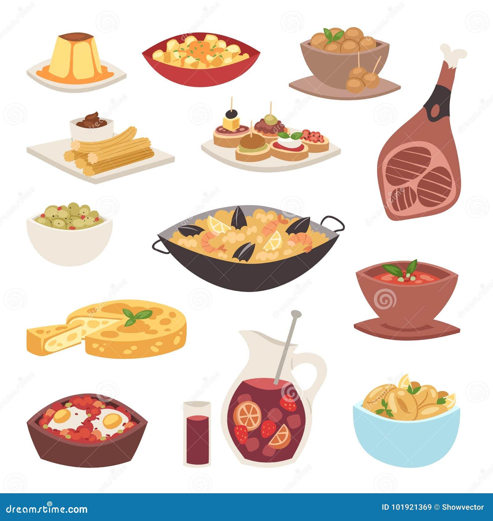 Van het de keukenkoken van Spanje van de het voedselschotel traditionele van de het recepten Spaanse snack van het tapas knapperi