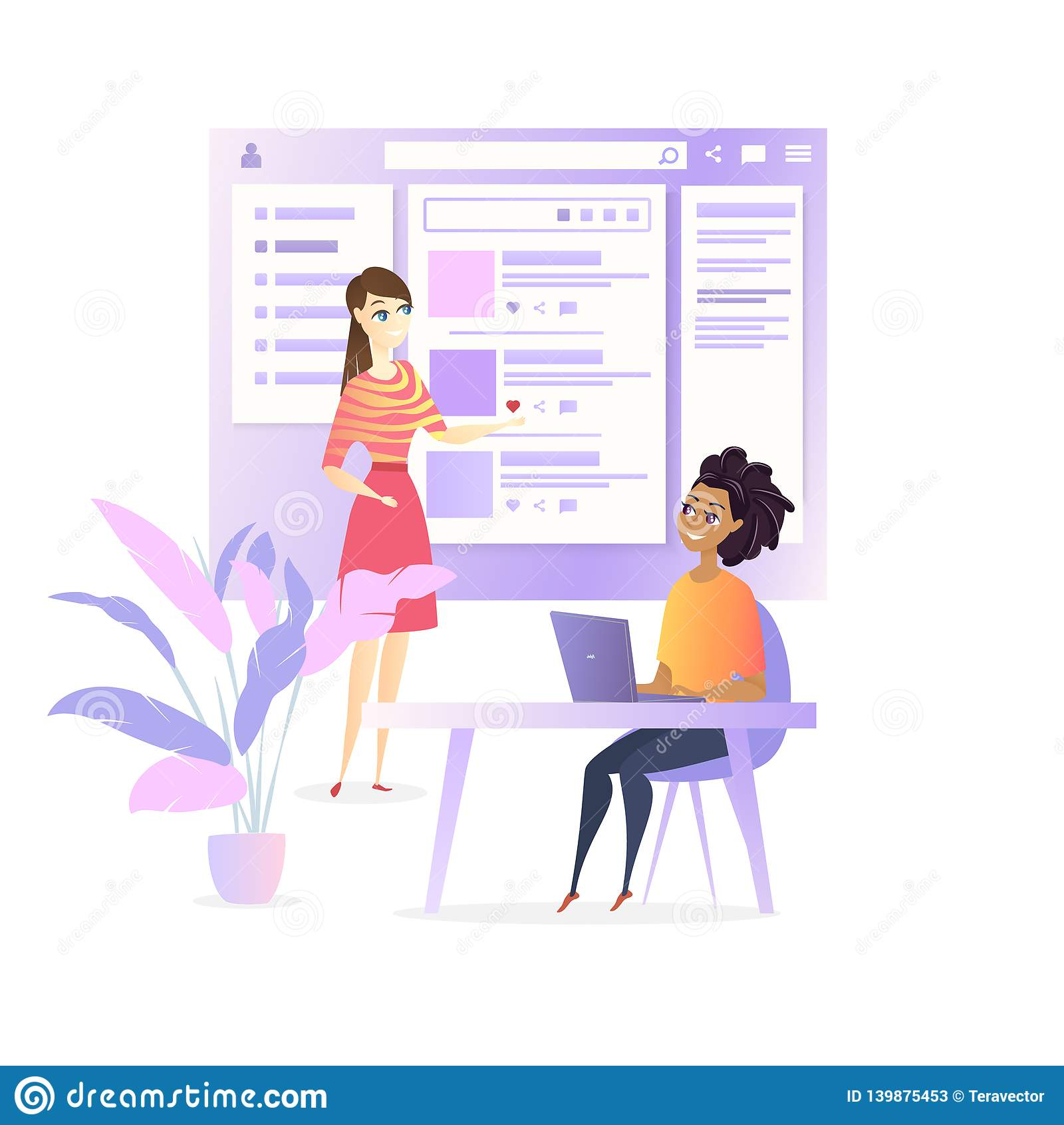 Van het de Ontwikkelaarontwerp van websiteui Sociaal de Media Project