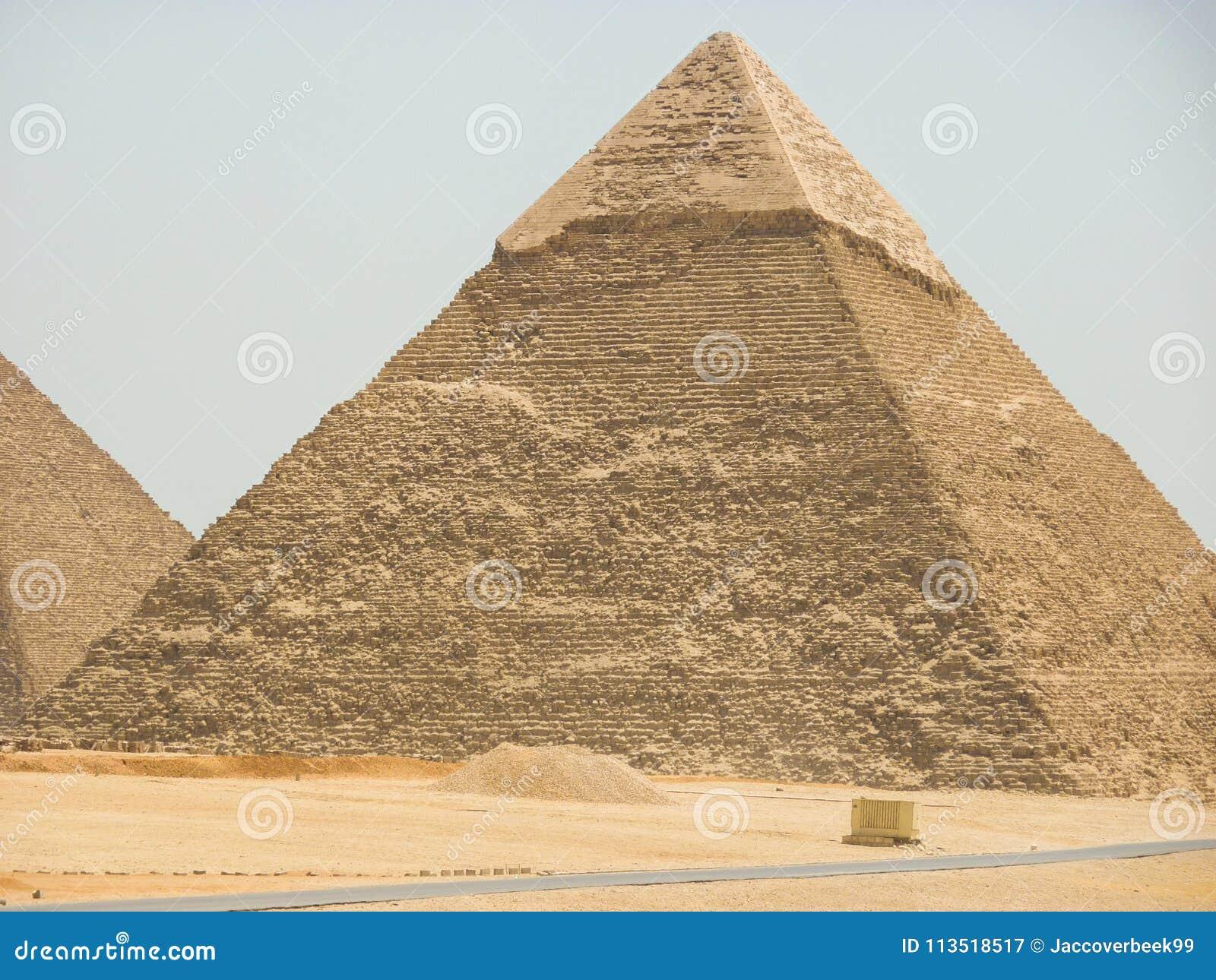 Van het de Piramideszand van Egypte de Zon van de de Woestijnreis