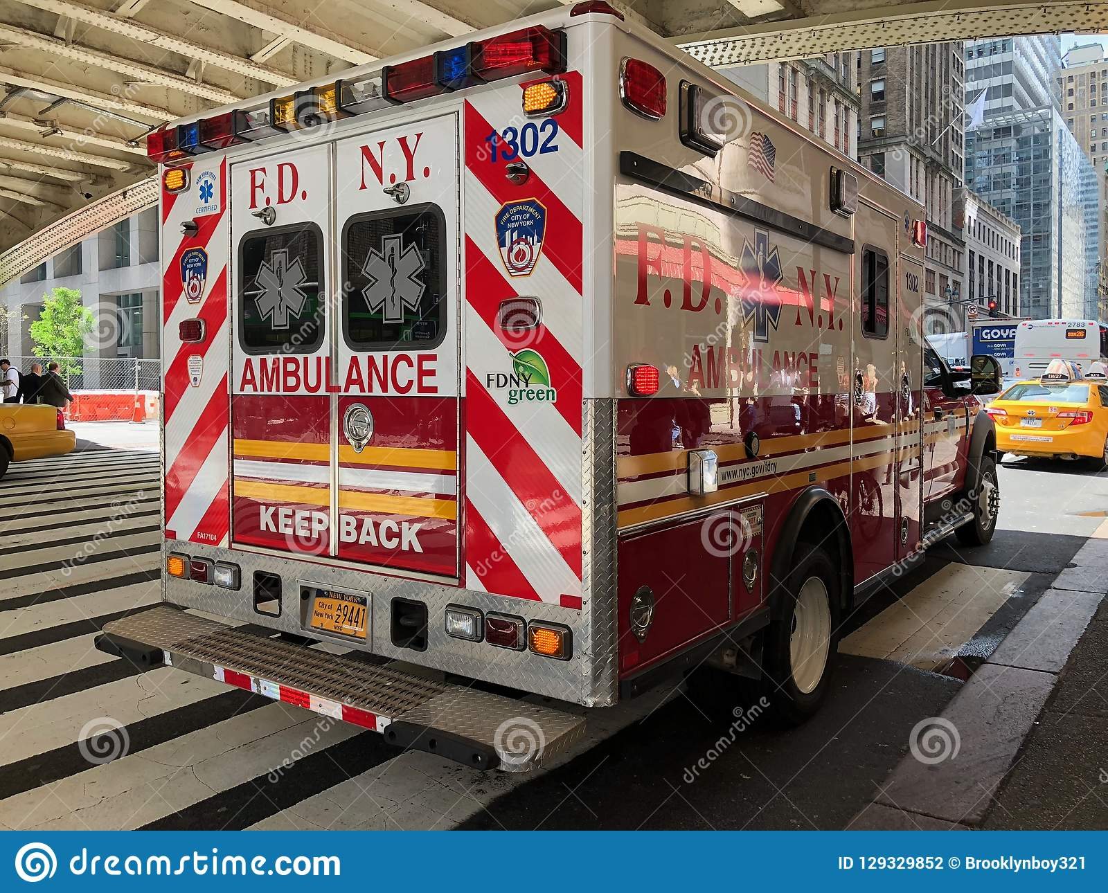 Van het de Stadsbrandweerkorps van New York de ziekenwagen van New York