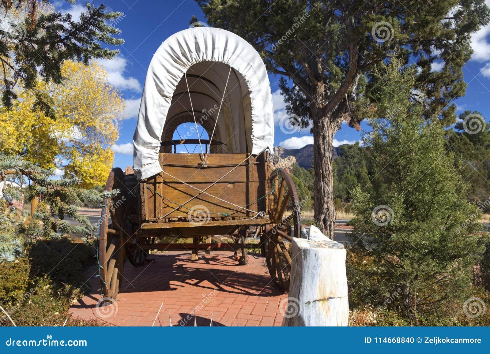 Van het de Wagenwiel van Wilde Westennen het Stadiumbus Sedona Arizona