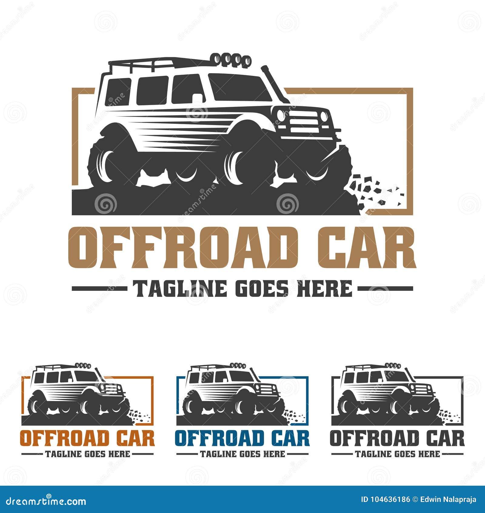 Download Van Het Embleem Van De Wegauto, Offroad Embleem, SUV-off-road Malplaatje Van Het Autoembleem, Vector Illustratie - Illustratie bestaande uit garage, auto: 104636186
