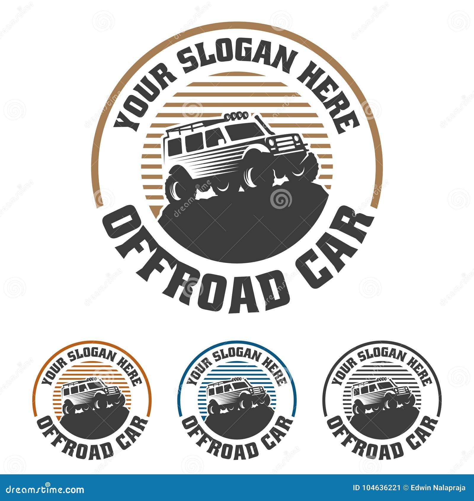 Download Van Het Embleem Van De Wegauto, Offroad Embleem, SUV-off-road Malplaatje Van Het Autoembleem, Vector Illustratie - Illustratie bestaande uit automobiel, verbinding: 104636221