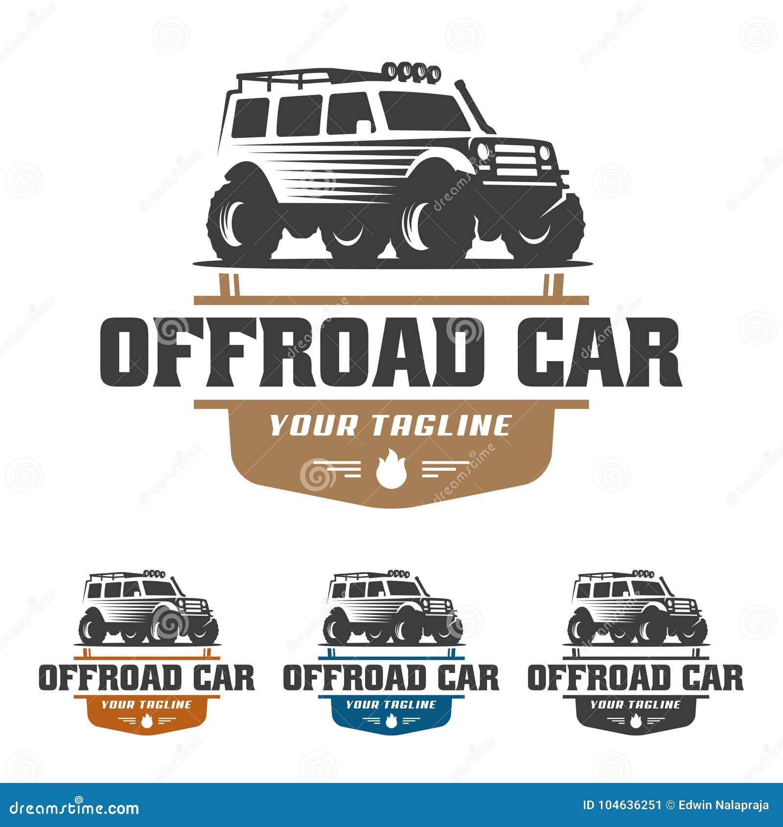 Download Van Het Embleem Van De Wegauto, Offroad Embleem, SUV-off-road Malplaatje Van Het Autoembleem, Vector Illustratie - Illustratie bestaande uit reeks, vuil: 104636251