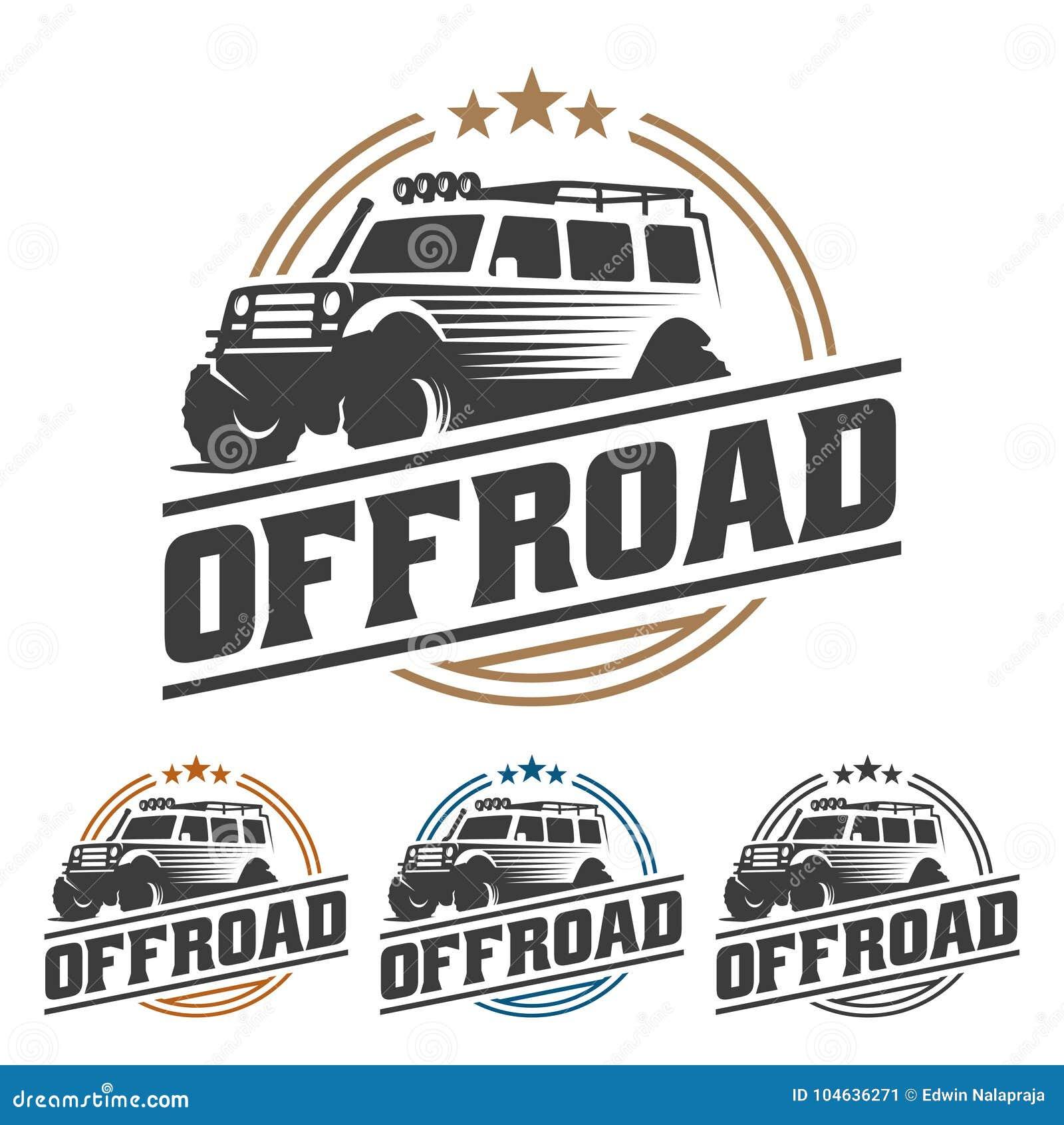 Download Van Het Embleem Van De Wegauto, Offroad Embleem, SUV-off-road Malplaatje Van Het Autoembleem, Vector Illustratie - Illustratie bestaande uit geïsoleerd, merk: 104636271