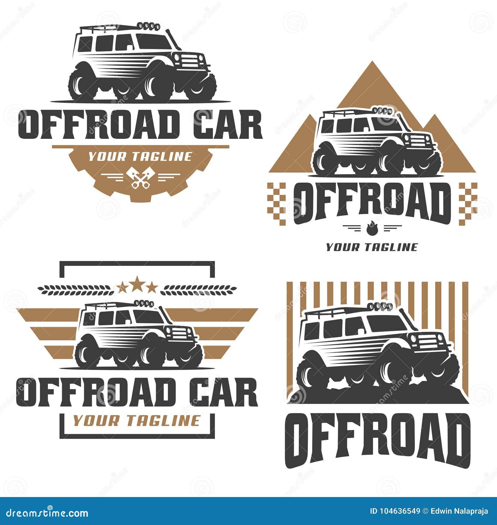 Download Van Het Embleem Van De Wegauto, Offroad Embleem, SUV-off-road Malplaatje Van Het Autoembleem, Vector Illustratie - Illustratie bestaande uit automobiel, professioneel: 104636549