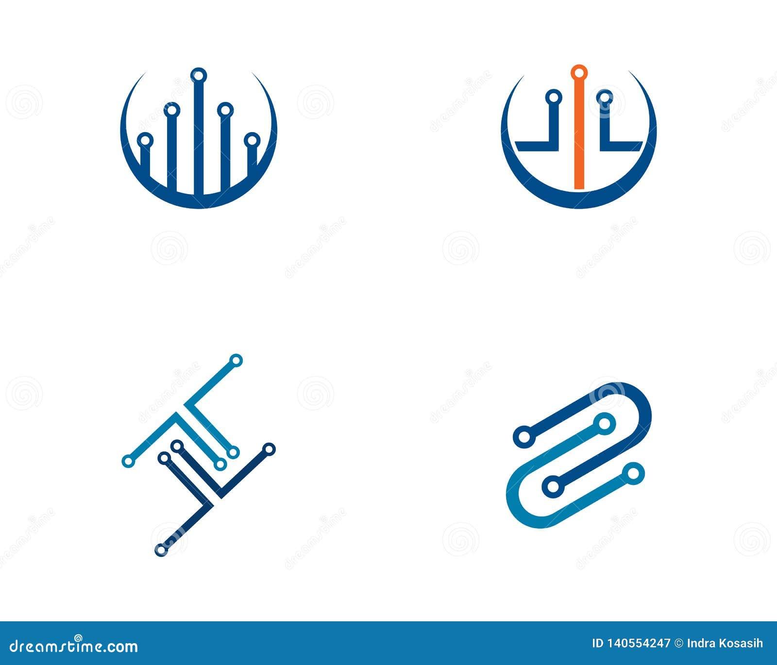 Van het het embleemmalplaatje van de kringstechnologie vector het pictogramillustratie