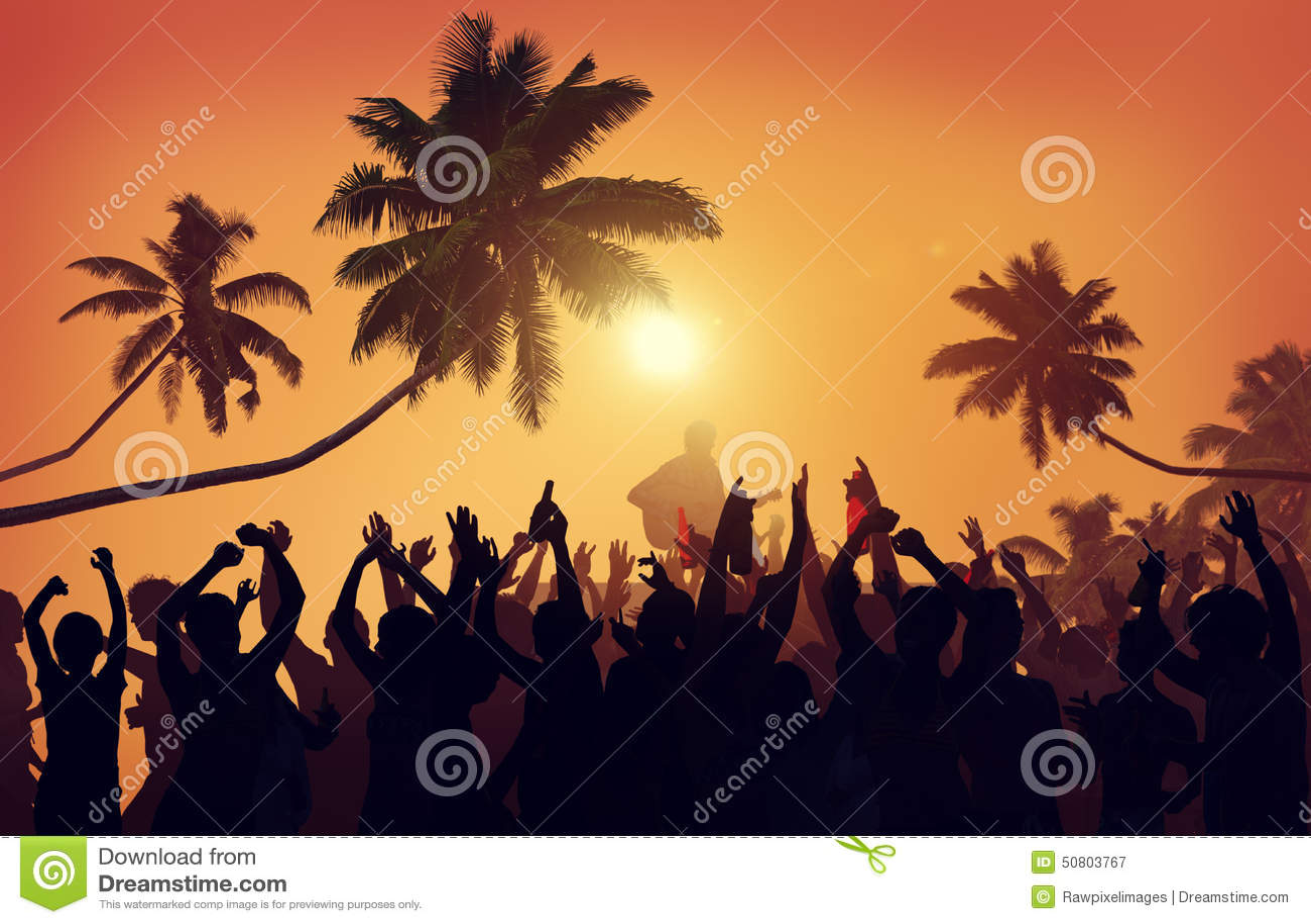 Van het het Festivalstrand van de de zomermuziek van de de Partijuitvoerder de Opwindingsconcept