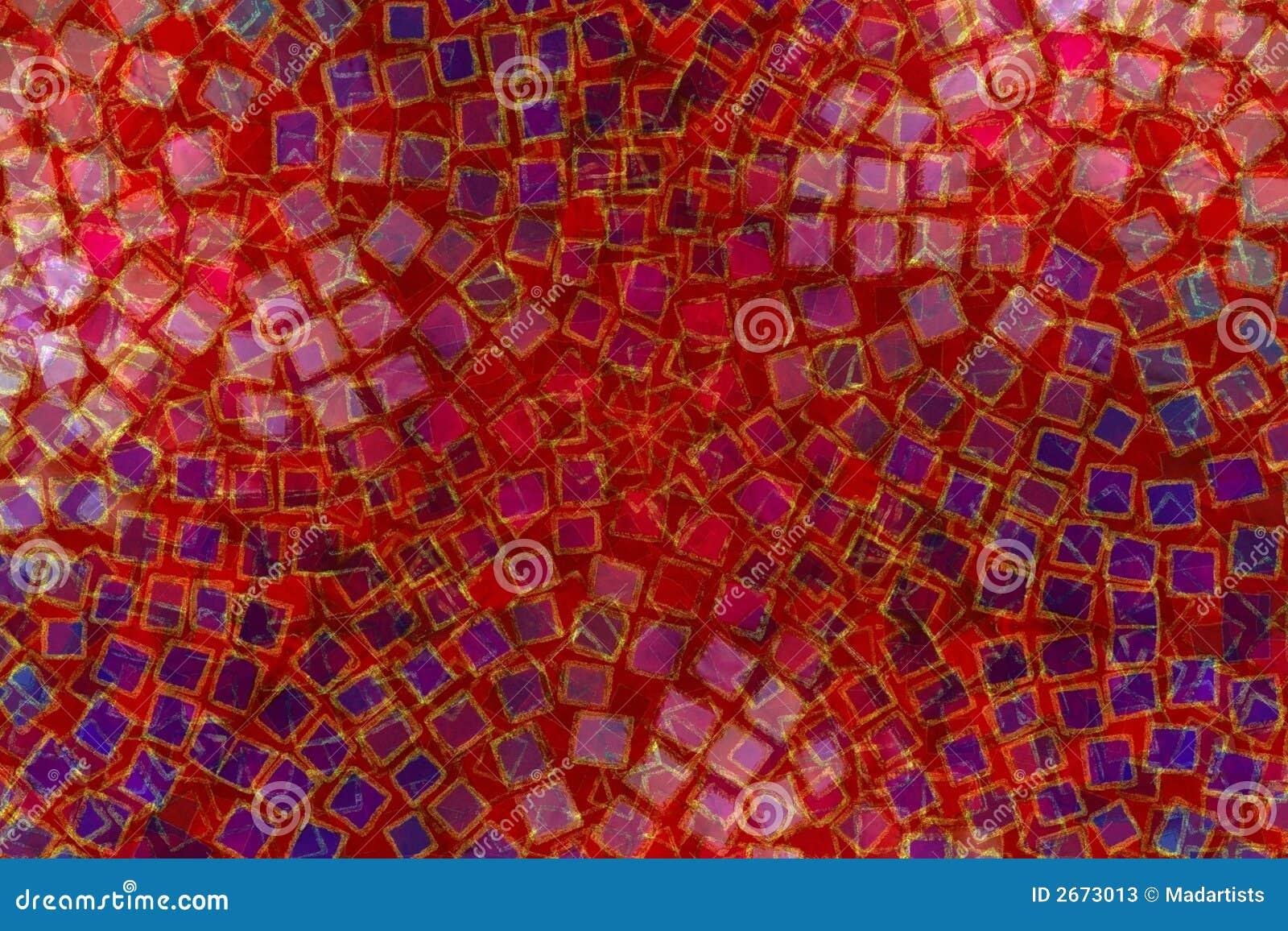 Van het mozaïek Vierkante Tegels Als achtergrond