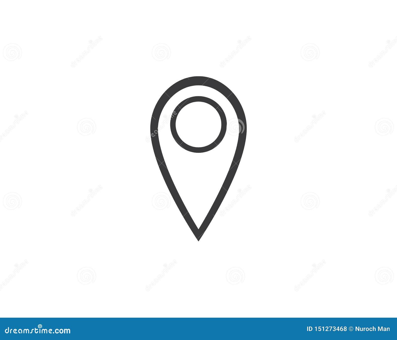 Van het het pictogramembleem van het plaatspunt vector de illustratieontwerp
