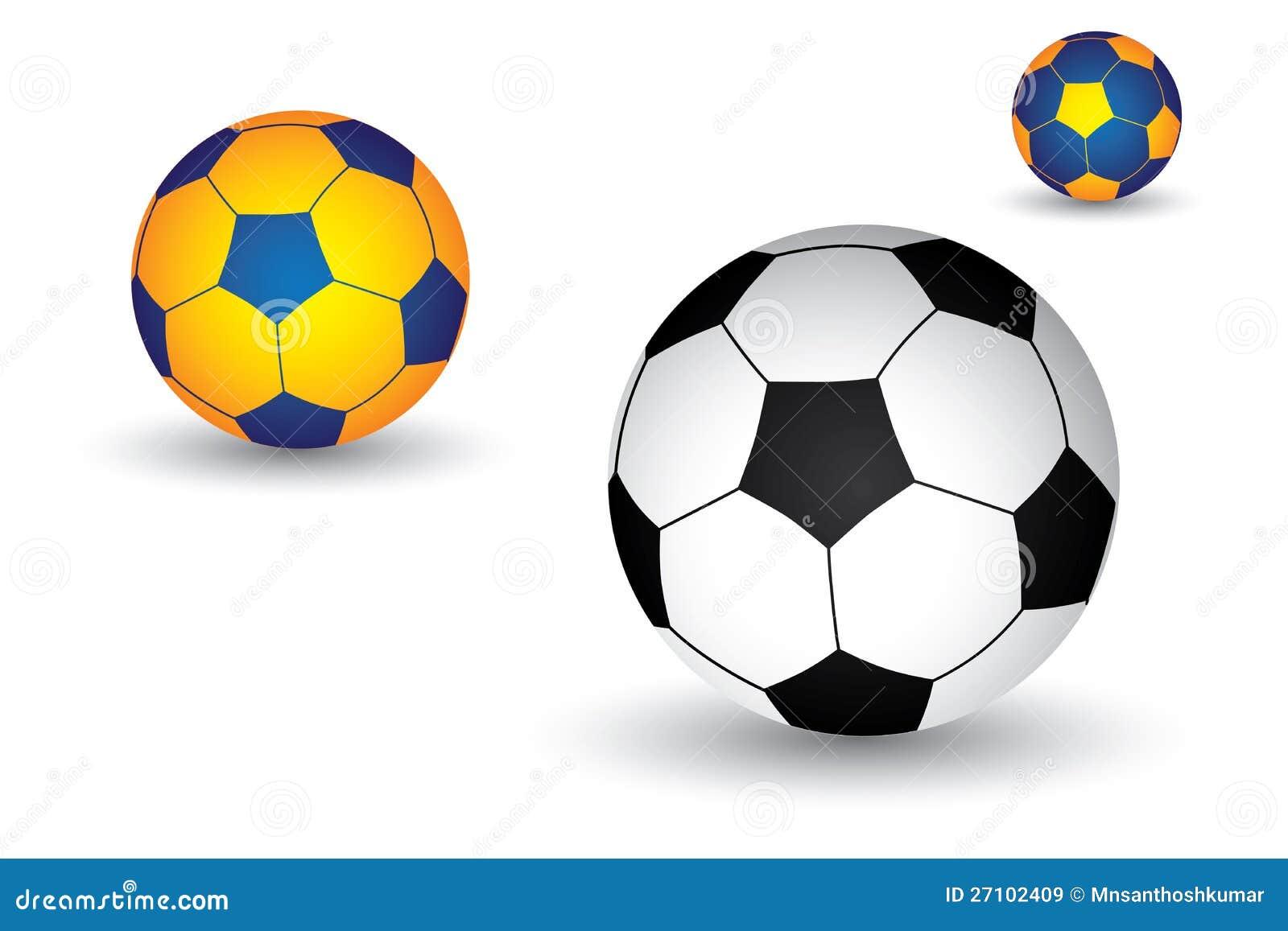 Van het voetbal voetbal de bal in zwart wit kleur royalty vrije stock afbeeldingen - Sterke witte werpen en de bal ...