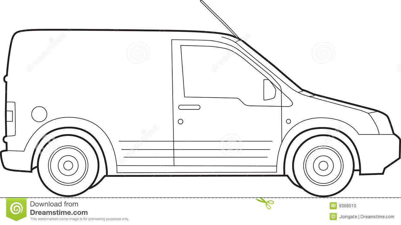 Line Drawing Van : Van illustration stock photo image