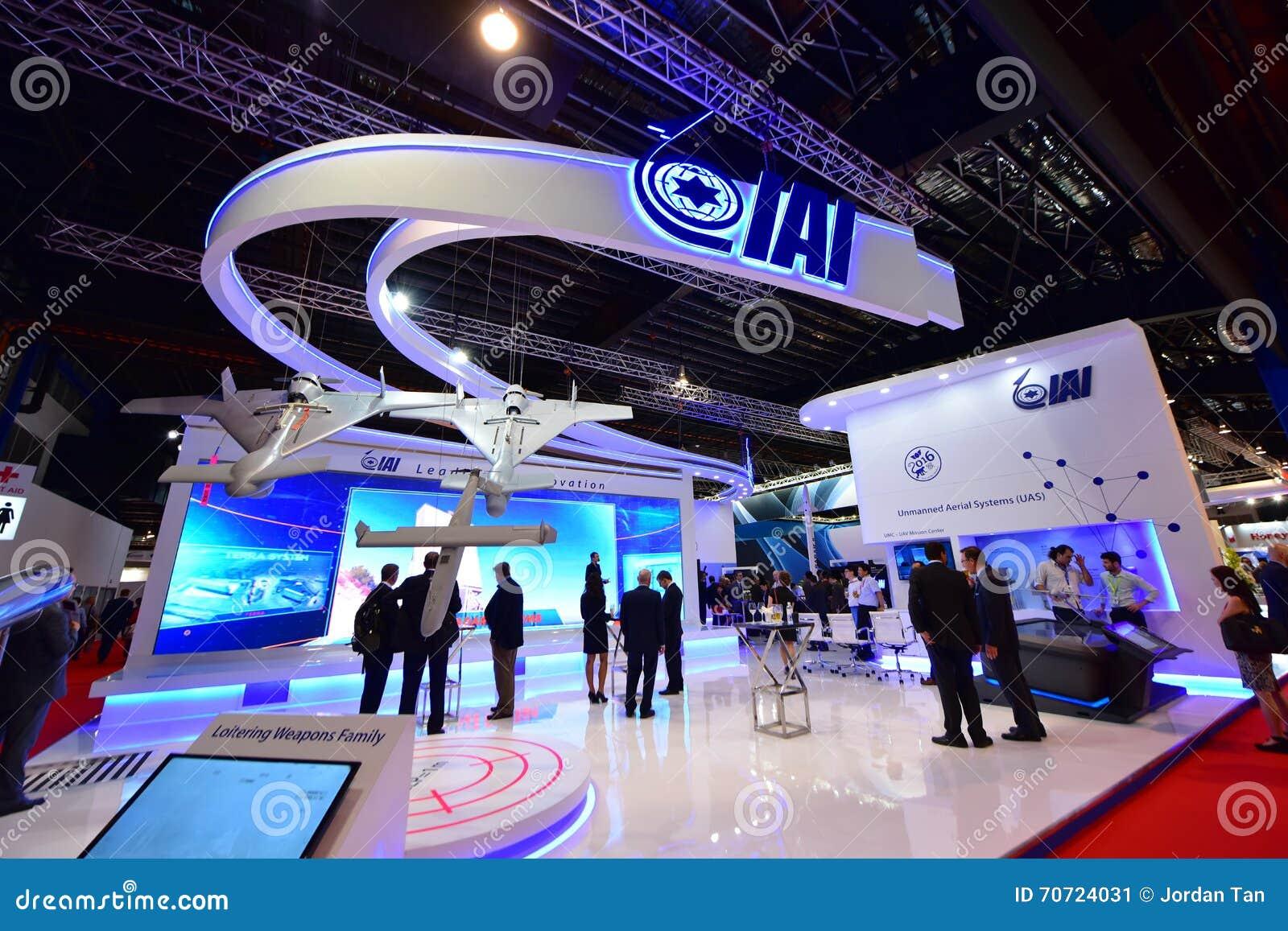 Van Israel Aerospace Industries (IAI) de cabine in Singapore Airshow