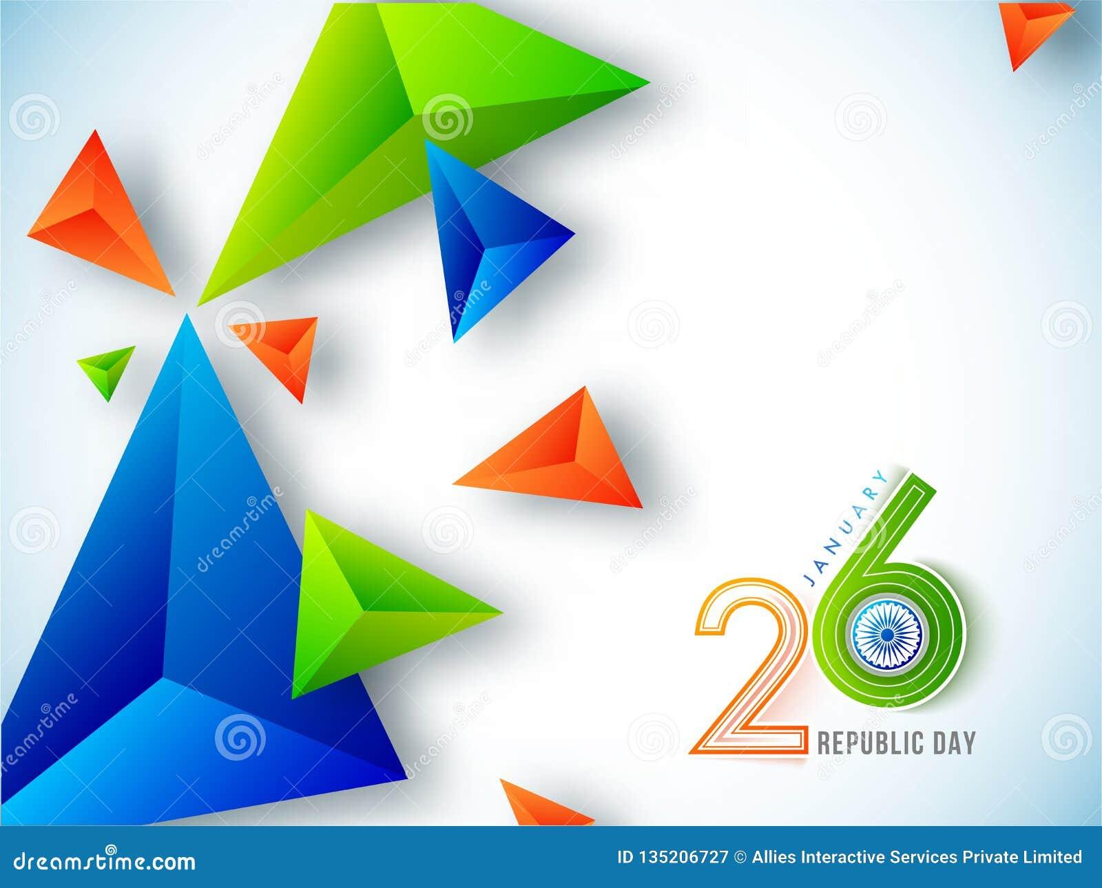26 van Januari-vieringsconcept met 3d geometrische samenvattingen