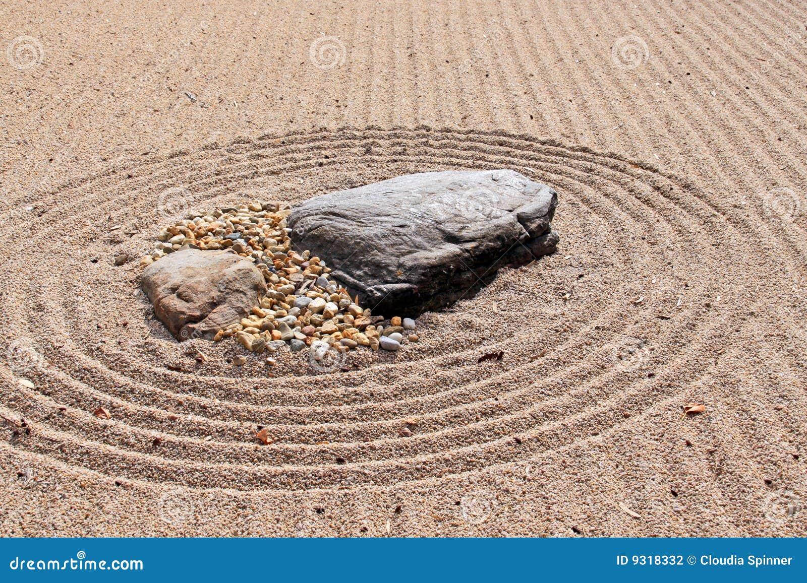 Van Karesansui (Overzees van Zand) de Japanse droge rotstuin