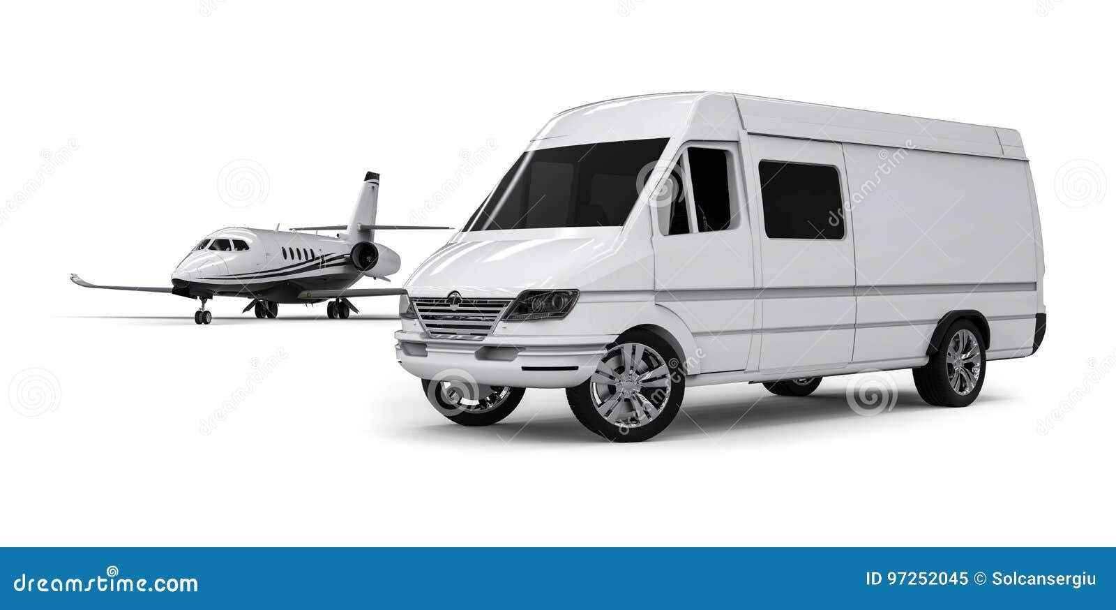 Van limousine avec le jet privé
