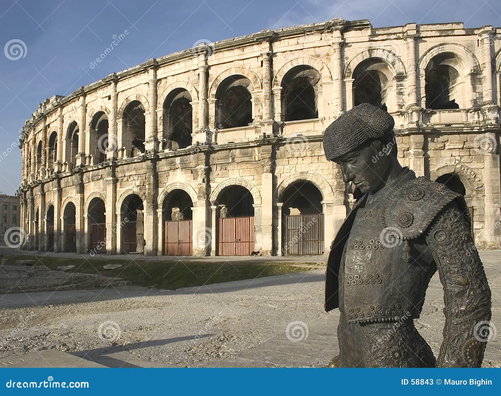 Van Nîmes (Nîmes) roman Arena, Frankrijk, Europa