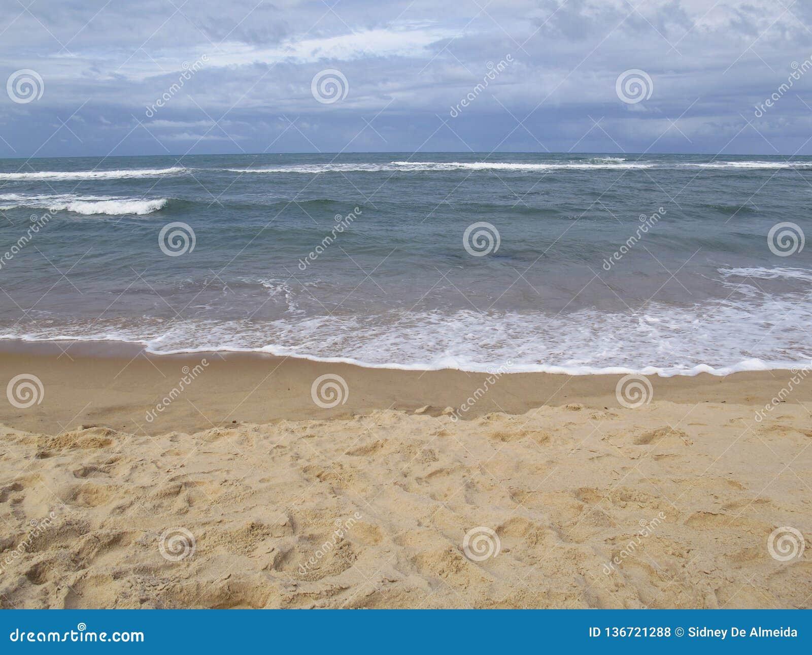 Van Pipastrand en Baia Dos Golfinhos - het Strand van Geboorte, Rio Grande doet Norte, noordoostelijke kust van Brazilië