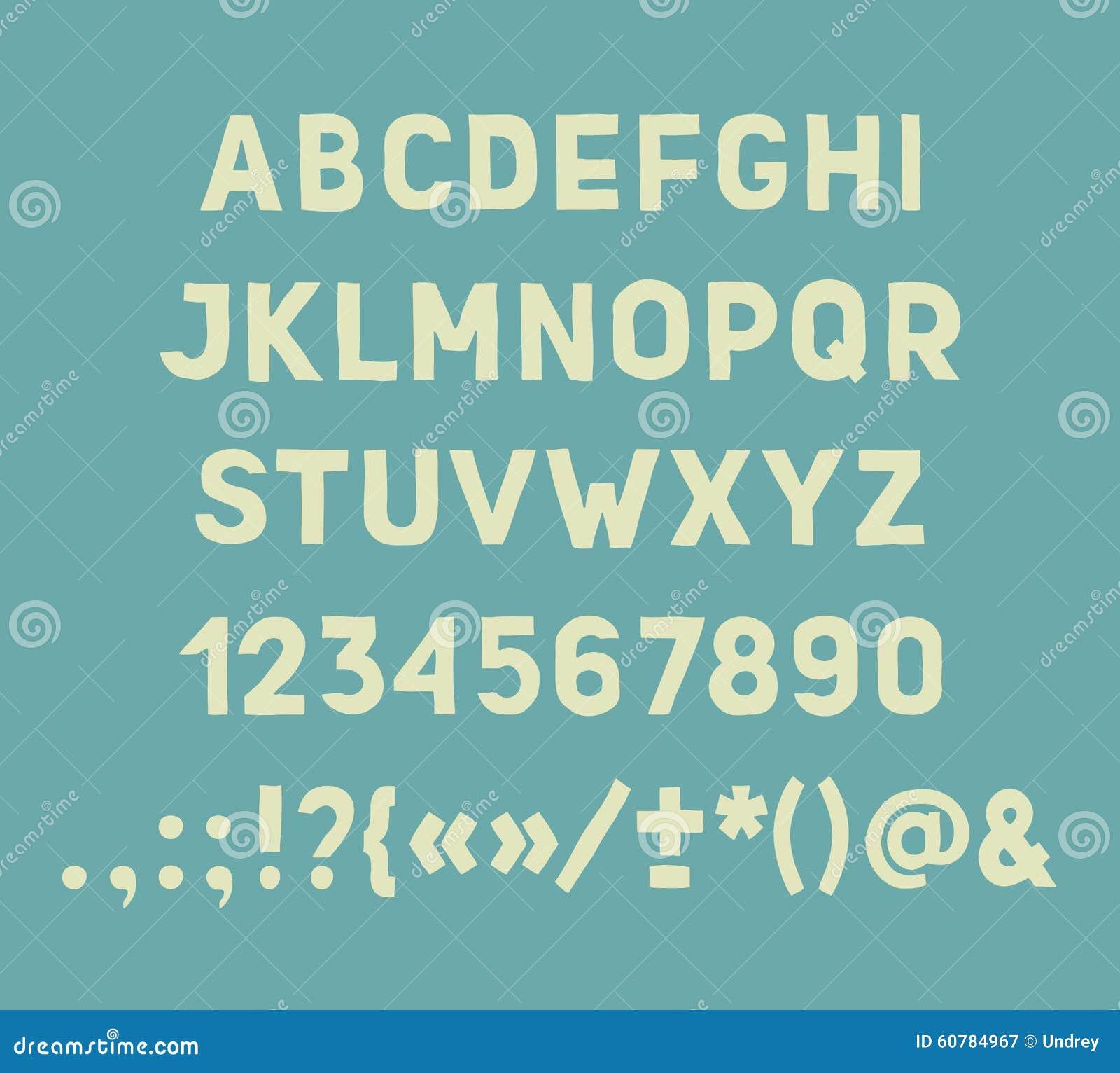 Citaten En Leestekens : Van typeletters getallen en leestekens hand vector