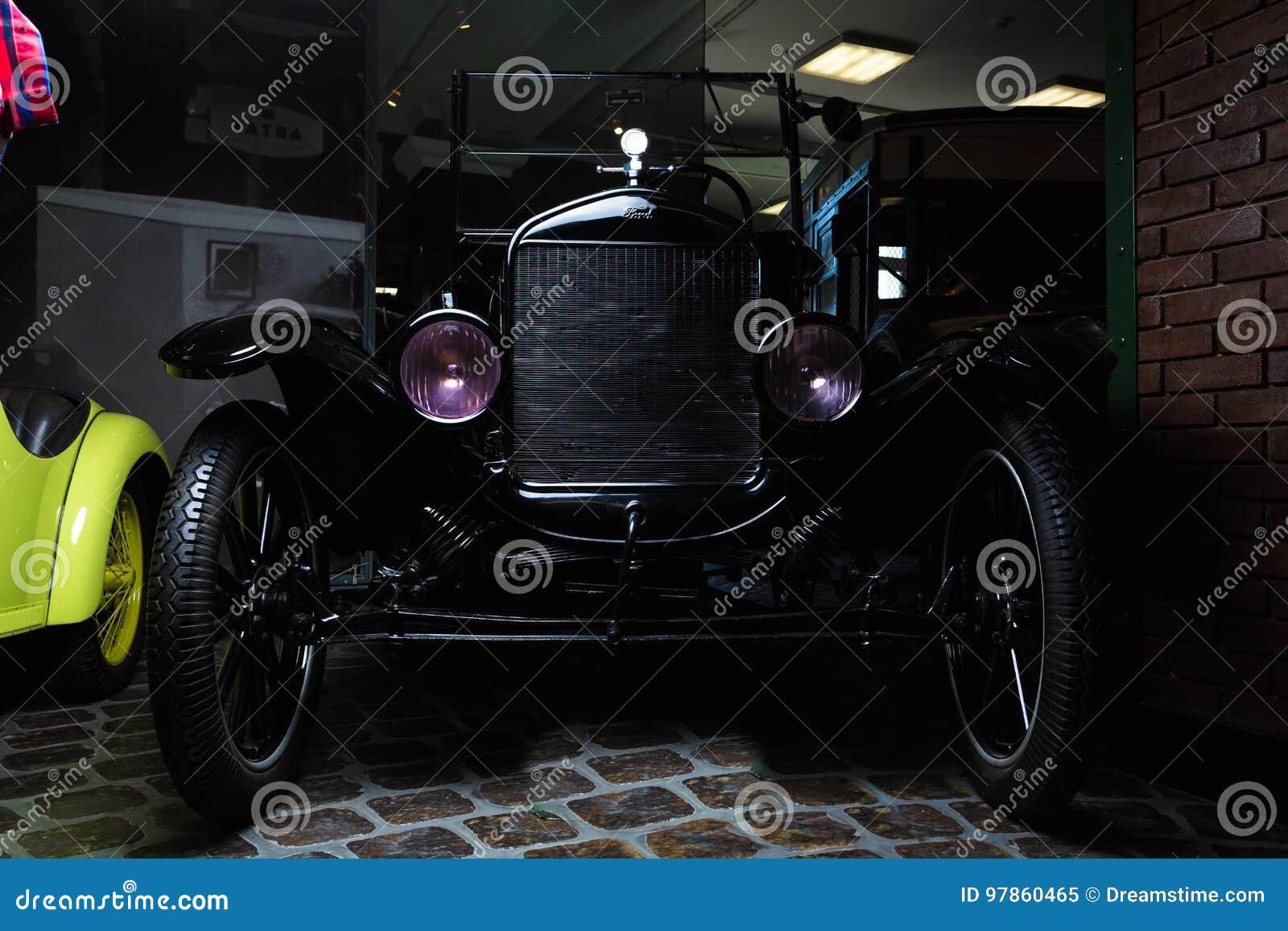 Van van achtergrond Ford T donkere van de de luxe retro auto uitstekende autoadler Trumpf Ondergeschikte bruine de Limousine donk