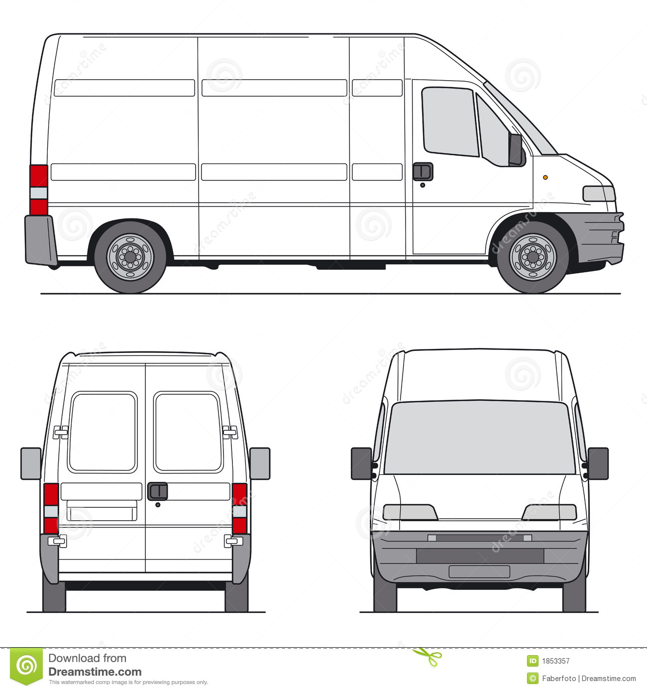 Van Vector Royalty Free Stock Photo