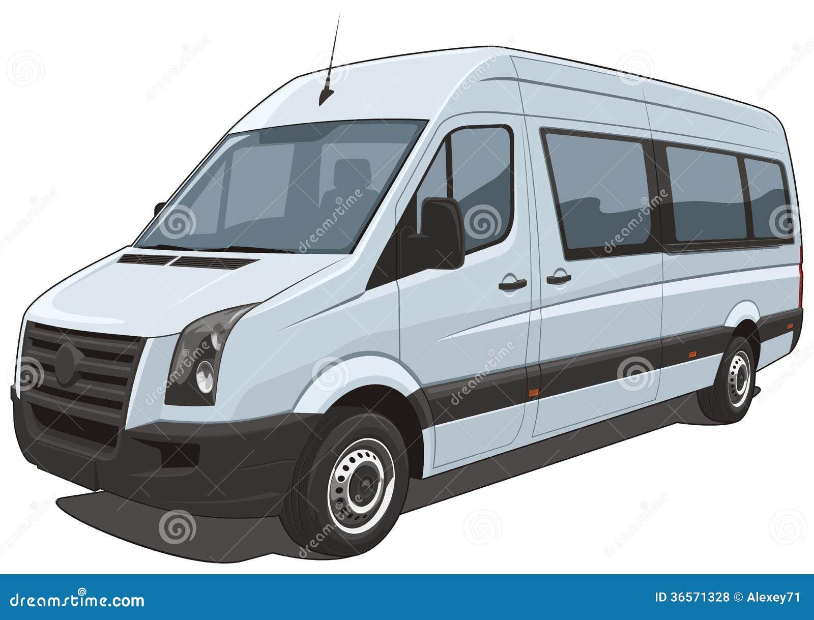 White Passenger Van Van Royalty Fre...
