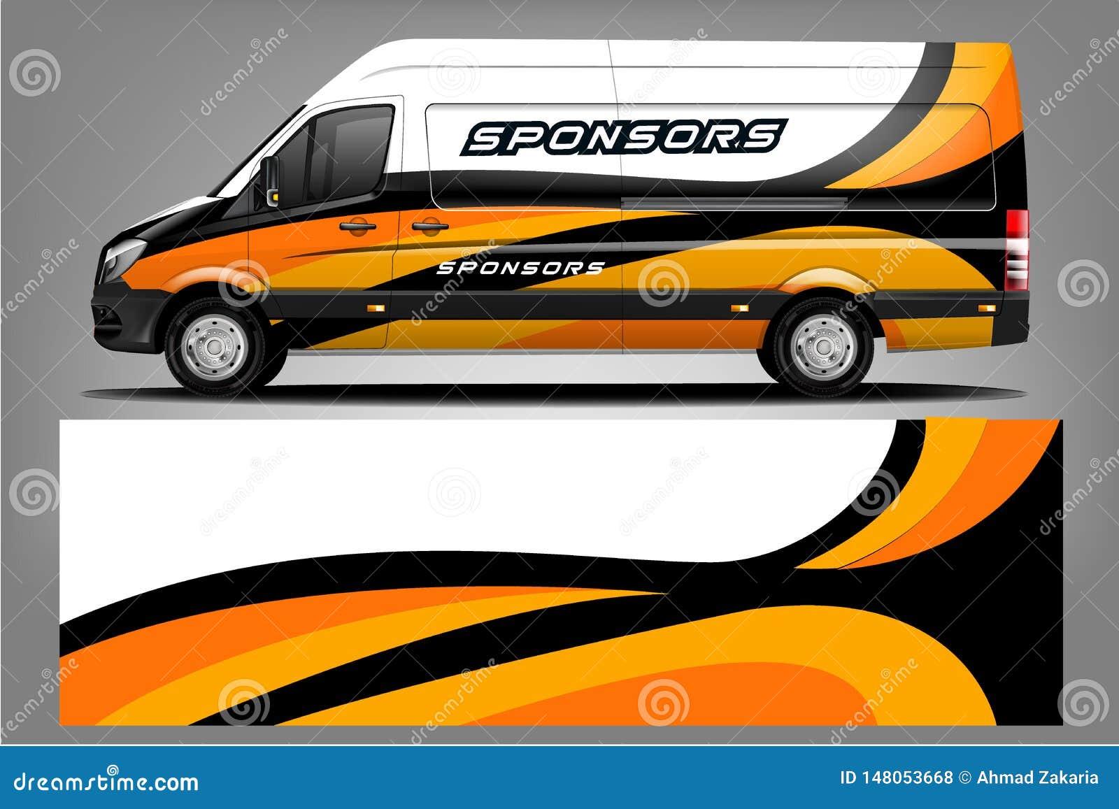 Van Wrap Livery design. Ready print wrap design