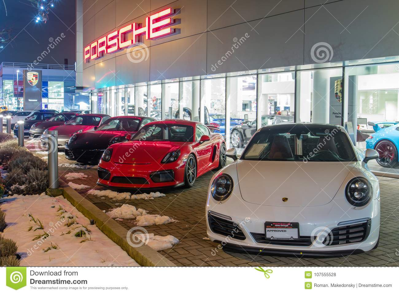Vancouver BC, Canada - January 9, 2018: Porsche Is A German ...