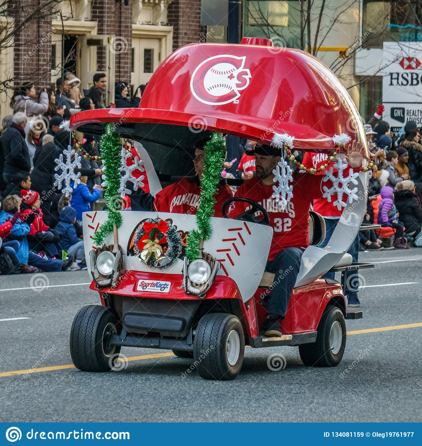 Vancouver Christmas Parade.Vancouver Canada December 2 2018 Sports Kartz At Annual