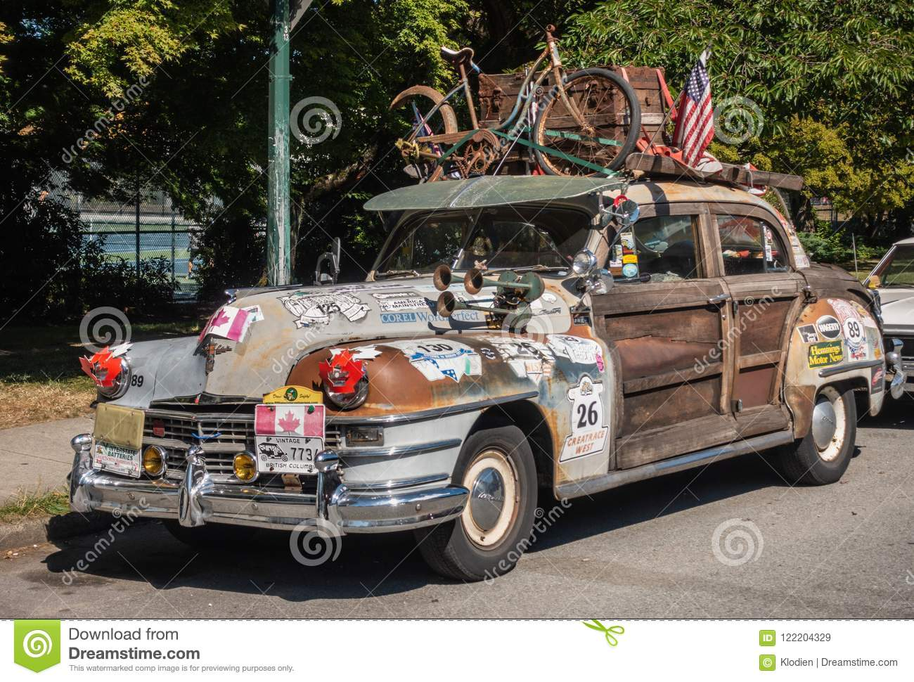 Vintage Chrysler Car Heaviy Decorated, Vancouver Canada ...