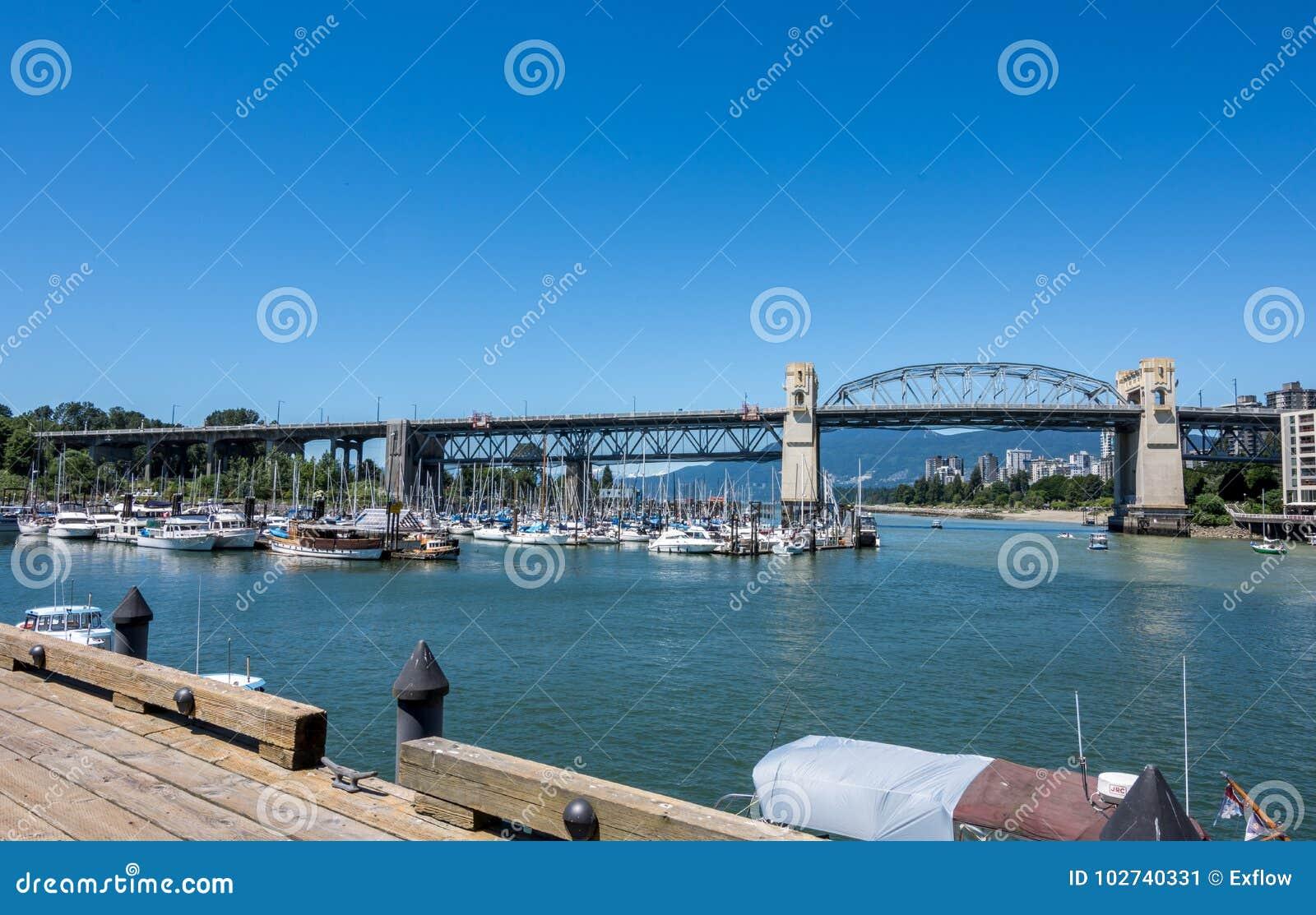 Vancouver, Canada - June 23, 2017: Boats in the Burrard Civic Ma