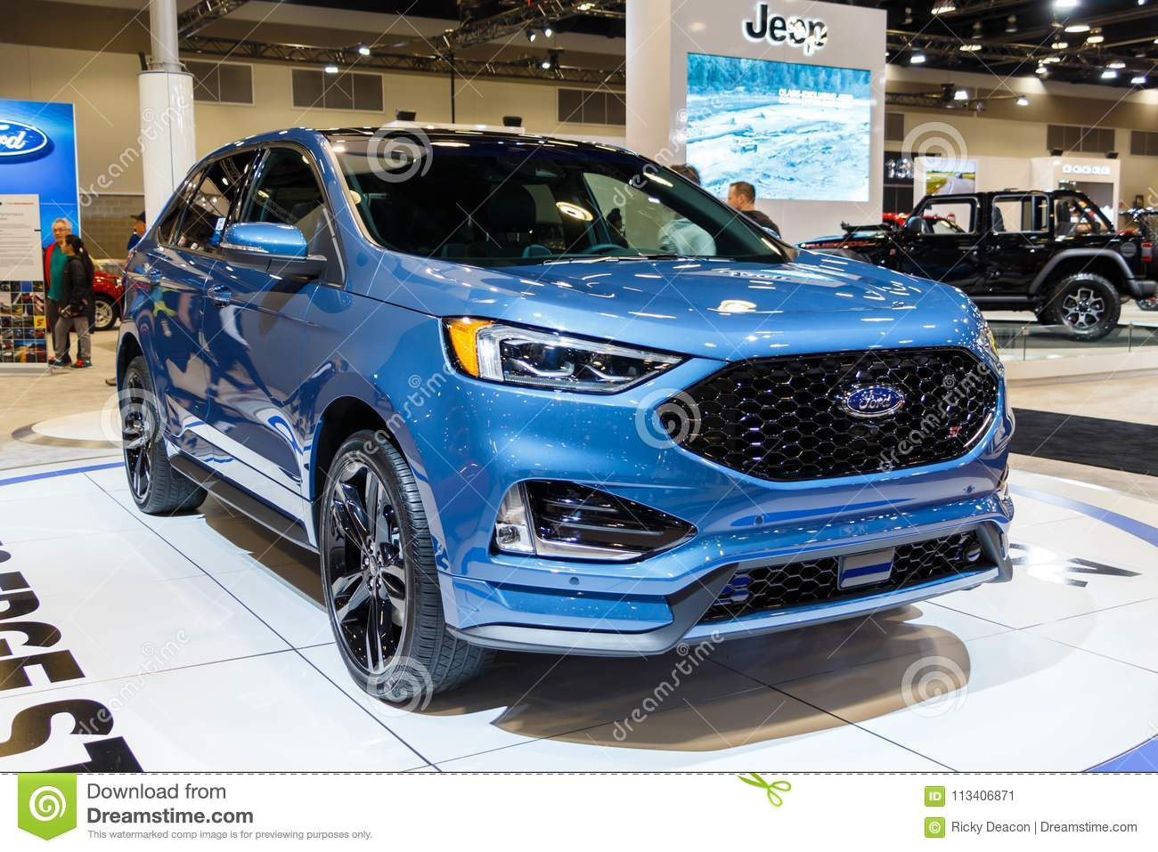 Vancouver Canada March Ford Edge ST Editorial Photo - Car show vancouver 2018