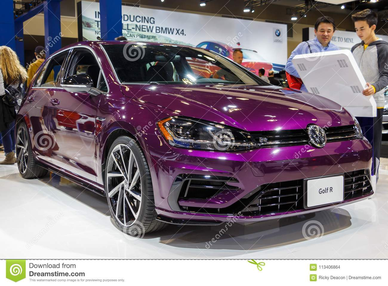 vancouver canada march 2018 vw golf r editorial stock image