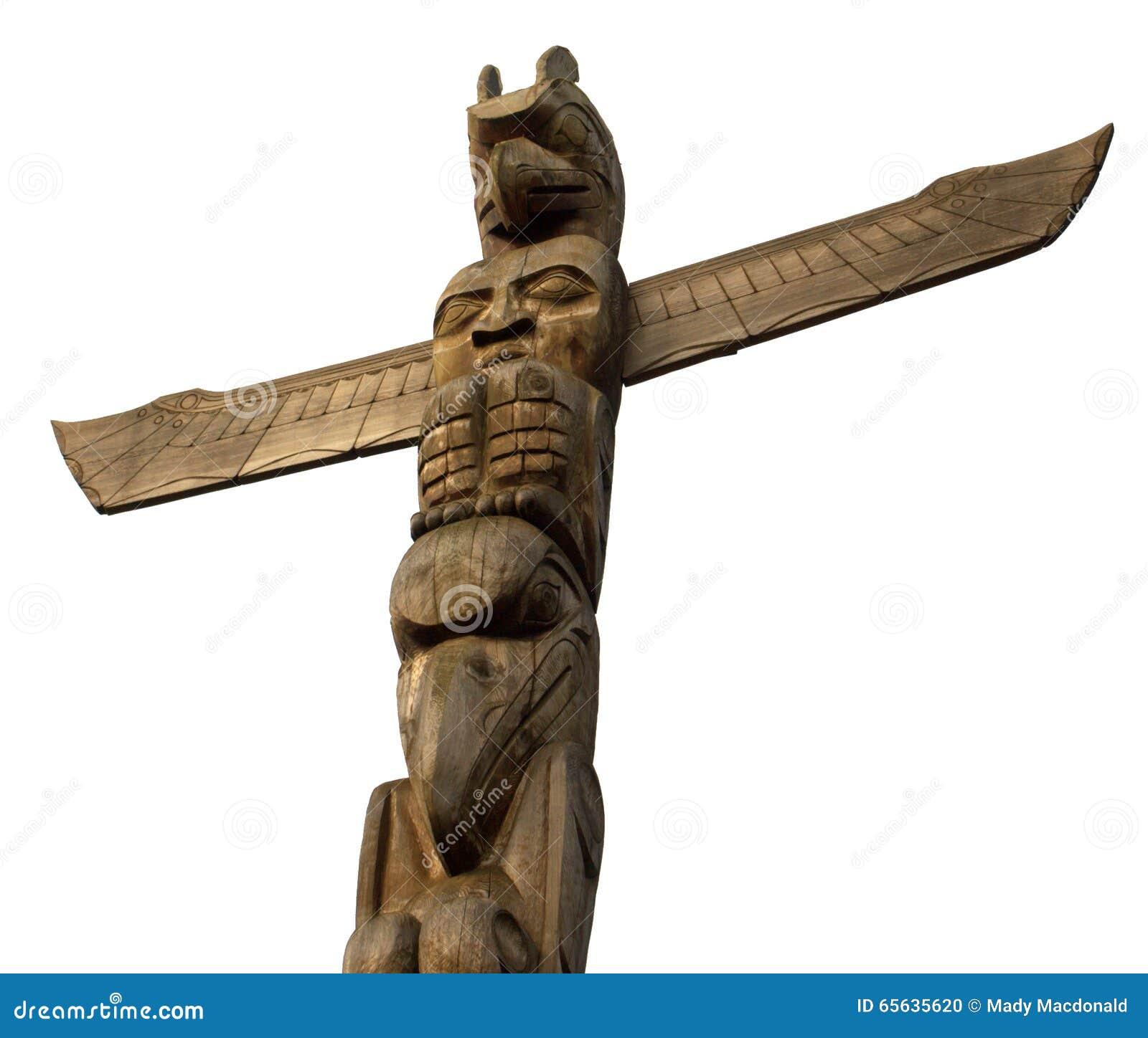 Vancouver, Canada : Totem Polonais
