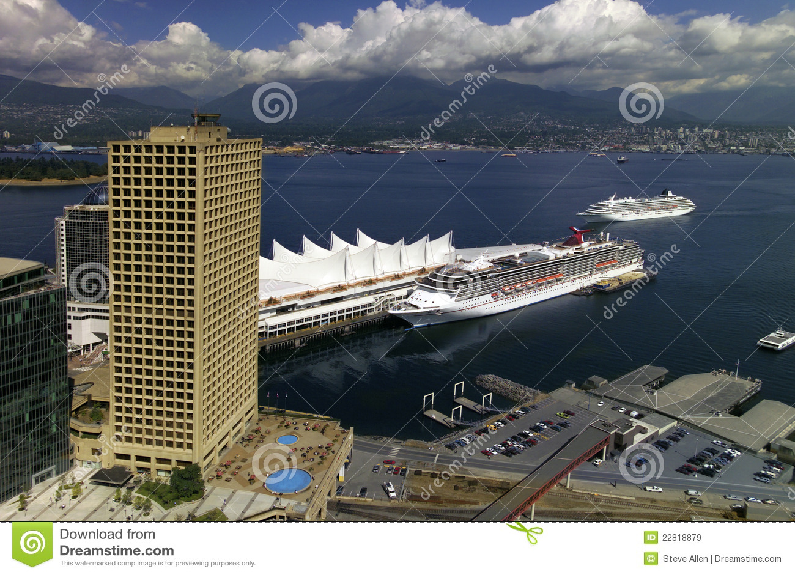 Vancouver Cruise Ship Terminal  Canada Royalty Free Stock