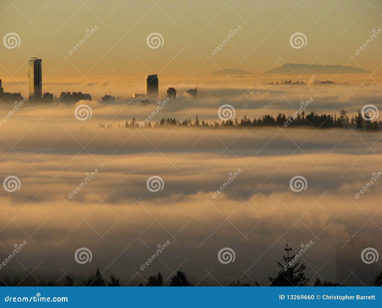 sonnenuntergang mit nebel und - photo #10