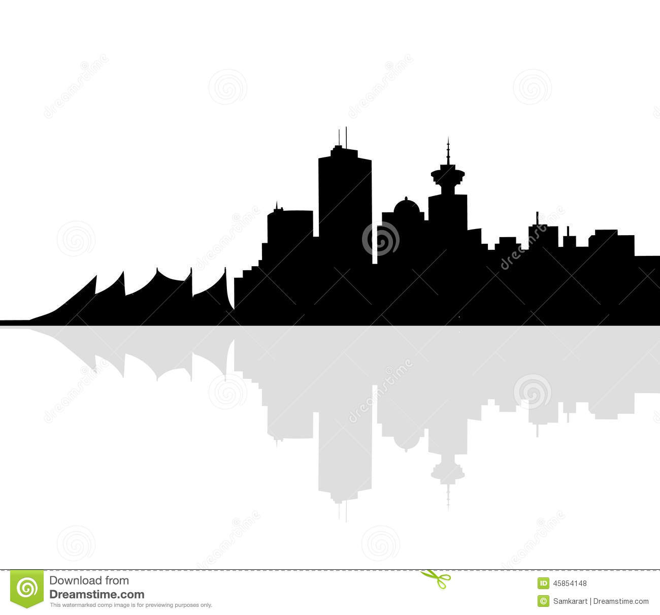 Vancouver Skyline-Vector stock vector. Illustration of ...