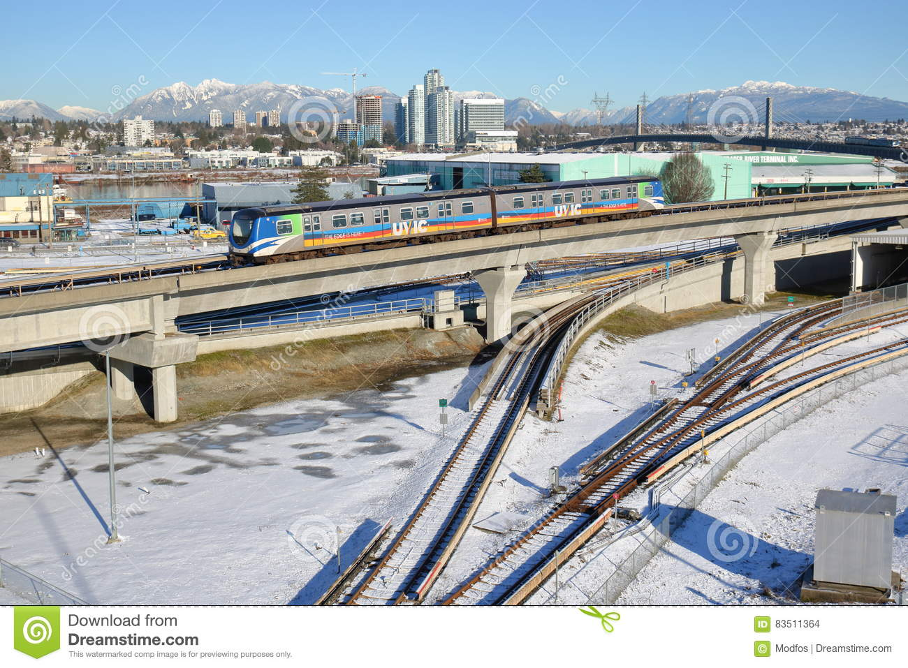 Vancouver Skytrain in Winter